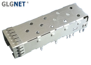 Single Port SFP Port Connector Press Fit Mounting 10G Ethernet Copper Alloy Cage Material
